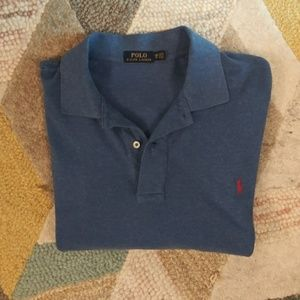 Polo 2x heather blue mens polo shirt